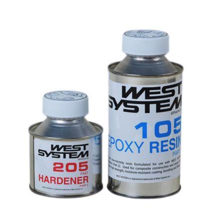 Pack résine epoxy prise rapide WEST SYSTEM 105/205